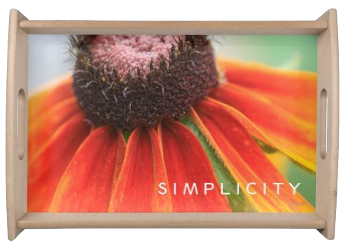 SIMPLICITY Wildflower Serving Tray by Nature's Folio