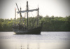 How Surprised Would You Be To Walk Onto A Dock In Florida And See A Replica Of Columbus' Nina Floating By? That's Exactly What Happened! If True To History, The Nina Is Much Smaller Than I Had Imagined -- Maybe 50 Feet Or So.