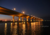 The Roosevelt Bridge, Over The St. Lucie River, Stuart, Florida, Completed In 1996 And Spanning The St. Lucie River, Is A Beautiful Sight At Dusk -- Regardless That's All Concrete.