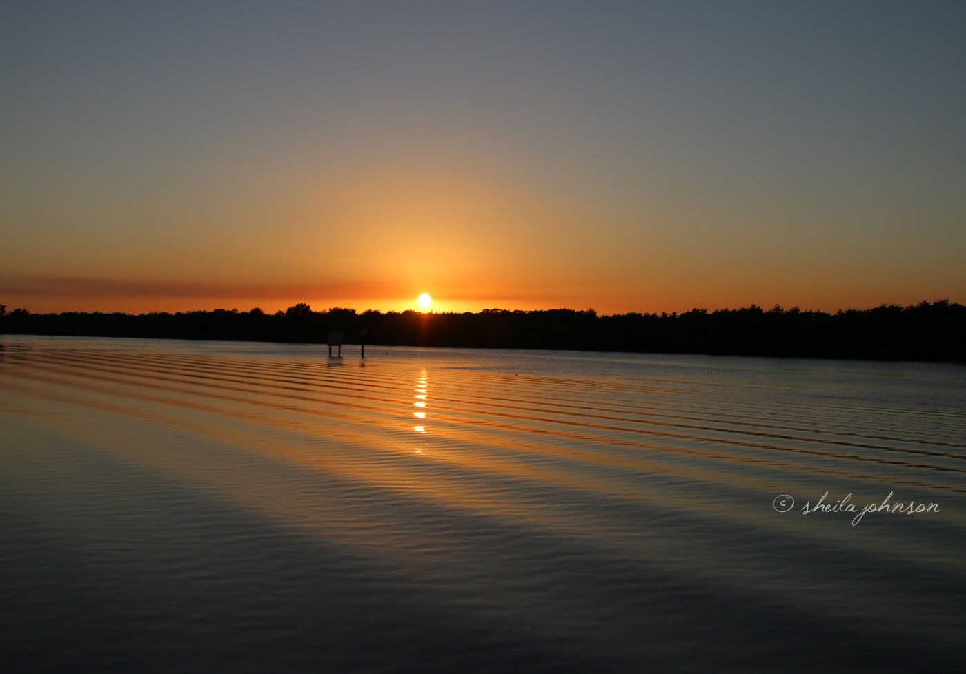 Sunset Over The St. Lucie River At Kiplinger Preserve May Be A Daily Affair, But One Thing It Never Is -- Boring. This Is One Of My Favorite Places In Martin County, Florida.