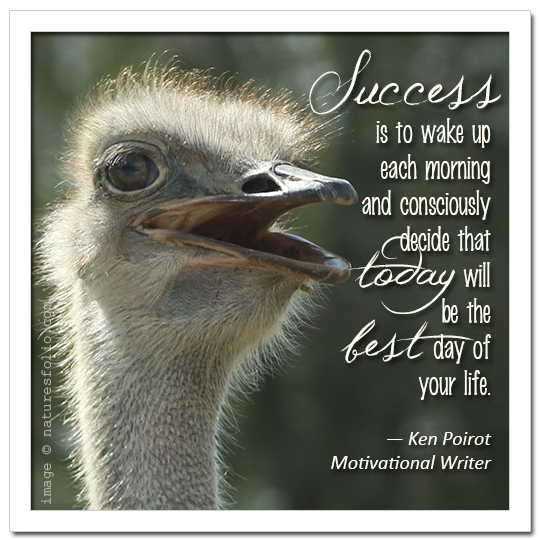 Ken Poirot on Attitude:  Success is to wake . . .
