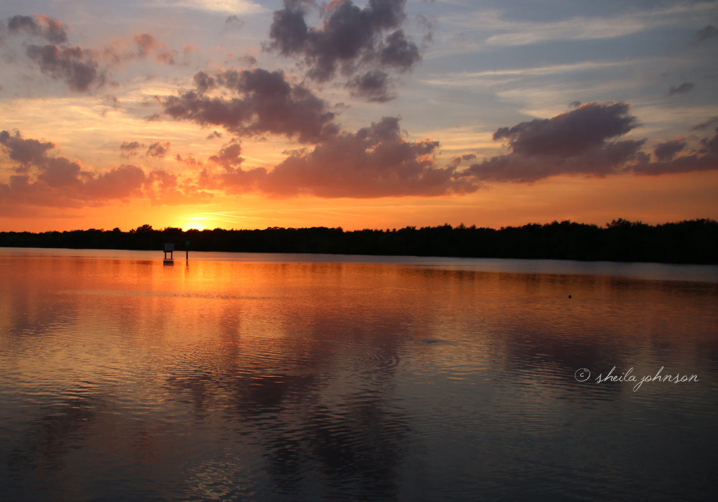 Florida Skies Look Like A Watercolor Paining At Sunset On The St. Lucie River At Kiplinger Preserve, Stuart, Florida.